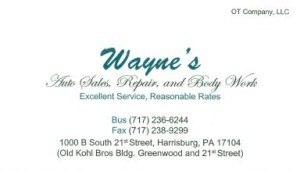 Wayne's - Auto Sales, Repair, and Body Work